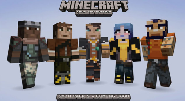 Minecraft: Xbox 360 Edition Screenshot - Borderlands skins for Minecraft: Xbox 360 Edition