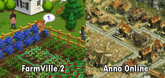 FarmVille 2 vs. Anno Online