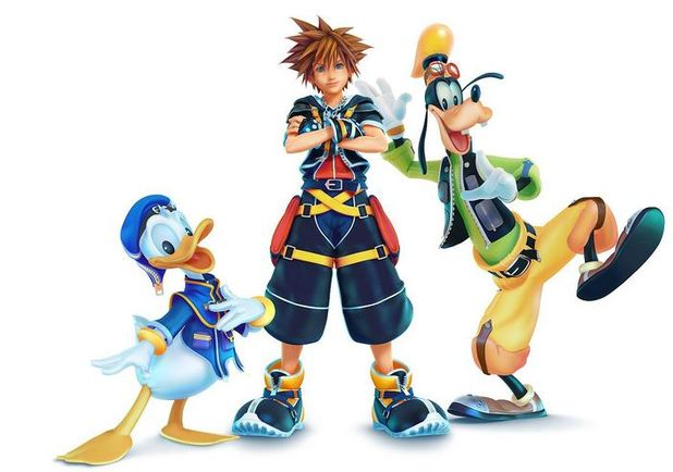 Kingdom Hearts III Screenshot - Concept art of donald goofy and sora