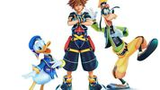 Concept art of donald goofy and sora