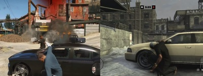 Grand Theft Auto V Screenshot - GTA 5 vs Max Payne 3 combat
