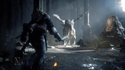 Deep Down Screenshot - Fighting a dragon