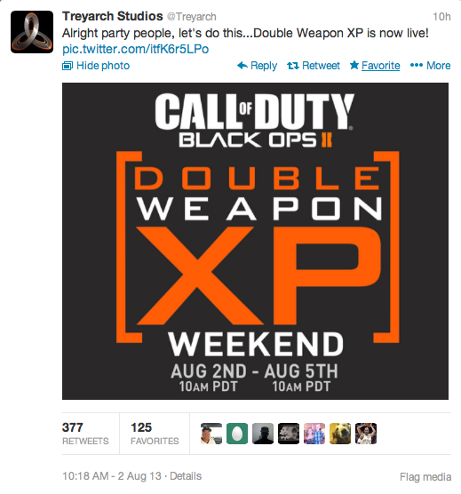 COD double weapon-XP