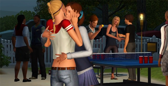 The Sims Like to Kiss, It Seems