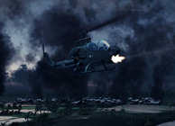 attack helicopter shooting