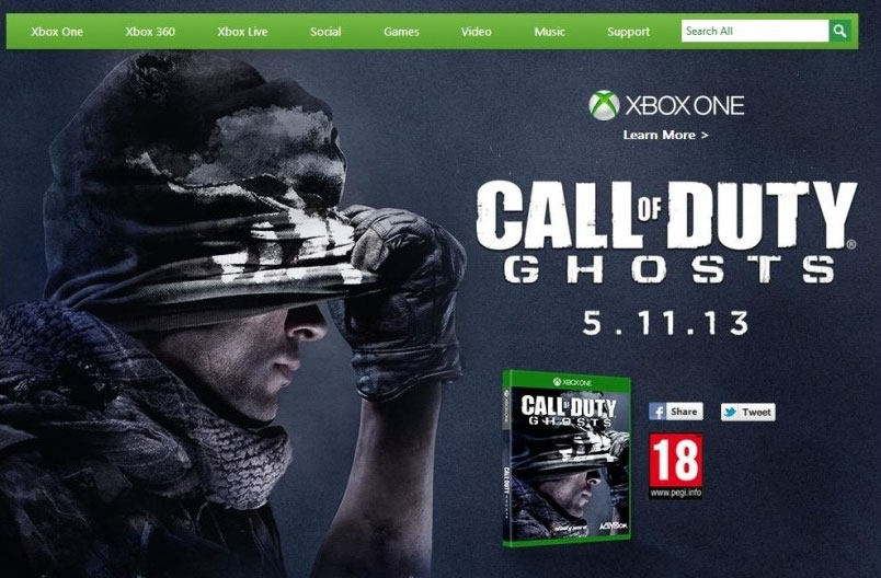 Xbox One CoD: Ghosts