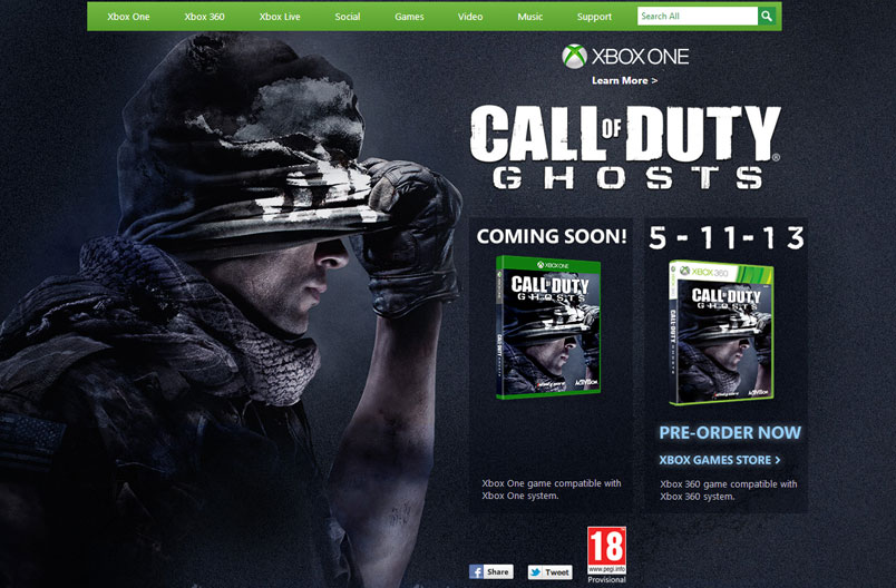 Xbox 360 and Xbox One - Call of Duty Ghosts