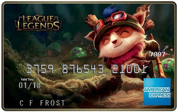 American Express League of Legends prepaid debit card - Teemo