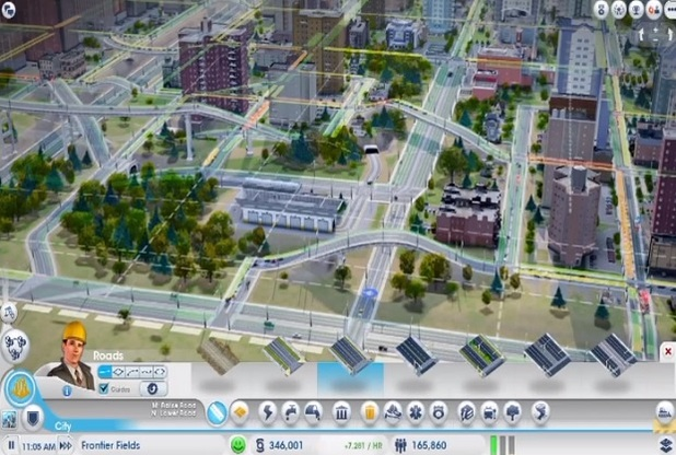 SimCity tunnels and bridges