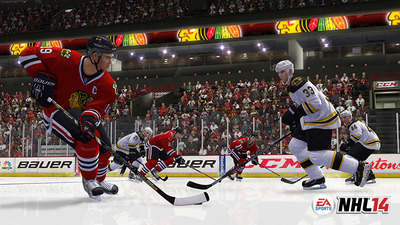 NHL 14 Screenshot - nhl 14 bruins vs blackhawks