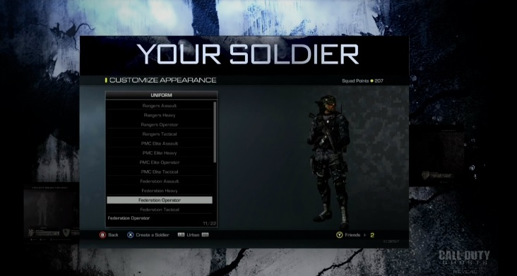 in Call of Duty Ghosts Call Of Duty Ghosts Character Creation