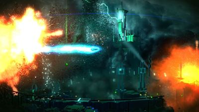 Resogun Screenshot - Blue blur