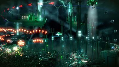 Resogun Screenshot - Dodging enemy fire
