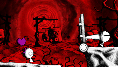 Murasaki Baby Screenshot - Red environment