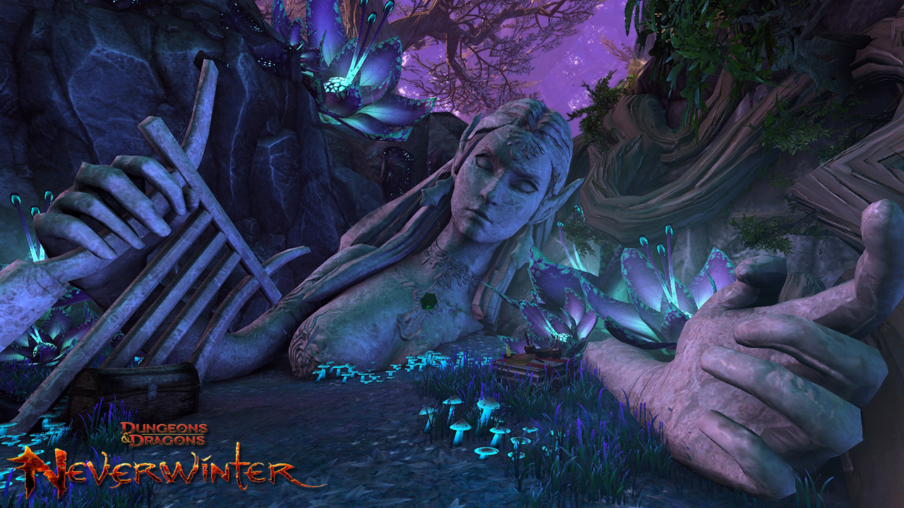 Neverwinter Elf Statue Nude