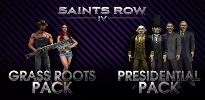Saints Row 4 Presidential Pack and Grass Roots Pack