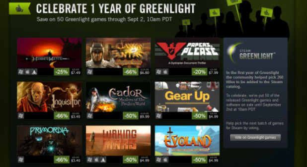 Steam Greenlight sale