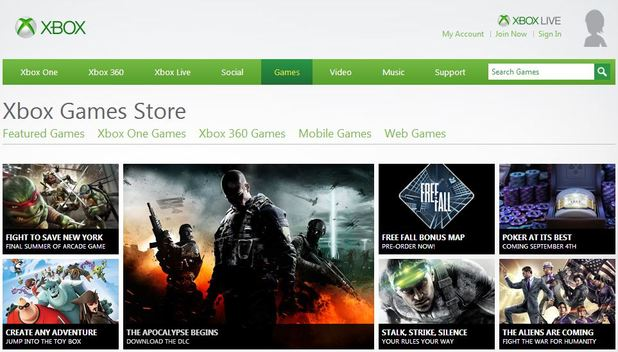 Xbox 360 Screenshot - Xbox Games Store