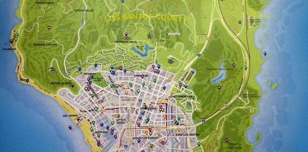 Grand Theft Auto V Screenshot - GTA 5 map