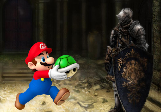 Dark Souls II Screenshot - Mario Dark Souls