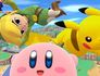 Toon LInk Kirby and Pikachu - Super Smash Bros. Wii U