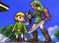 Toon Link and traditional Link on 3DS