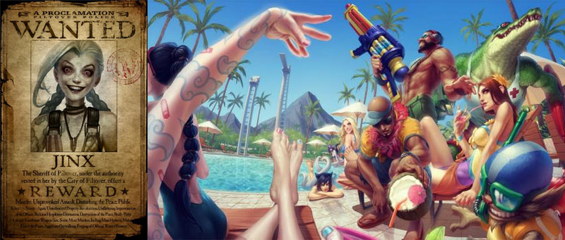 Jinx Tattoo Pool Party