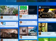 PS4 user interface main page