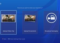 PS4 user interface video sharing