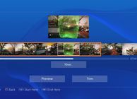 PS4 user interface video editing