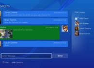 PS4 user interface messages