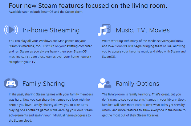 SteamOS Features