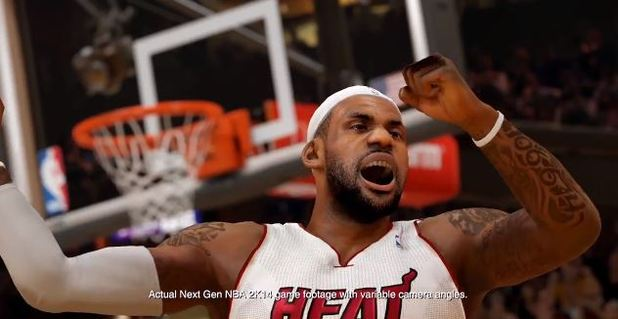 NBA 2K14 Lebron James next-gen