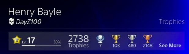 PlayStation 4 (console) Screenshot - PS4 Trophies