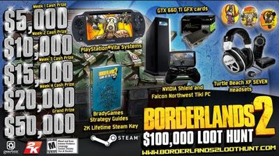 Borderlands 2 $100,000 Loot Hunt