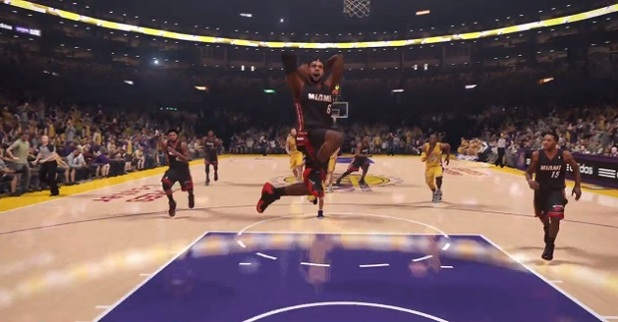 NBA 2K14 Screenshot - nba 2k14 ps4 lebron dunking