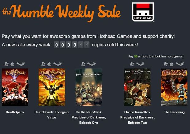 Humble Weekly Bundle Hothead games