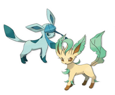 Pokémon X and Pokémon Y Screenshot - Leafeon Glaceon