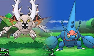 Pokémon X and Pokémon Y Screenshot - Mega Heracross and Mega Pinsir