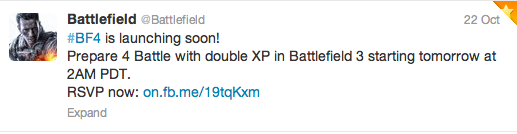 BF3 2XP event
