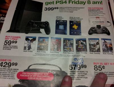 PlayStation 4 (console) Screenshot - Target buy 2 games get 1 free