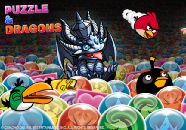 Puzzle & Dragons Angry Birds
