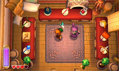 The Legend of Zelda: A Link Between Worlds Screenshot - a link between worlds