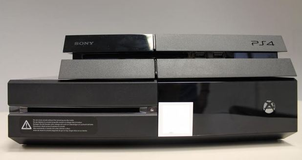 Xbox One and PS4 size comparison