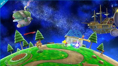Super Smash Bros. for 3DS / Wii U Screenshot - Super Mario Galaxy stage Super Smash Bros