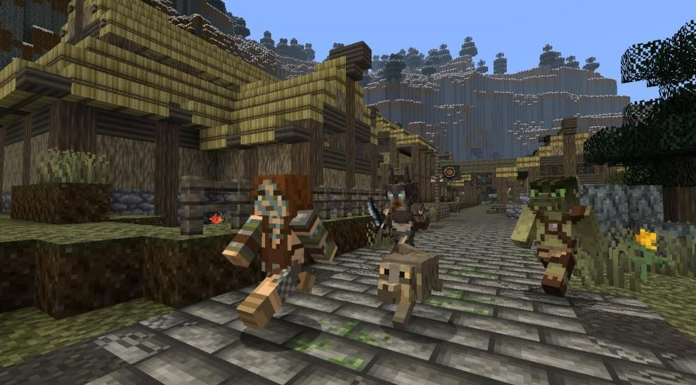 Minecraft: Xbox 360 Edition's Skyrim Mash-up available today