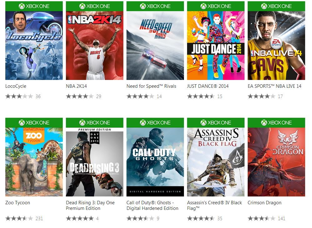 new games for xbox one list