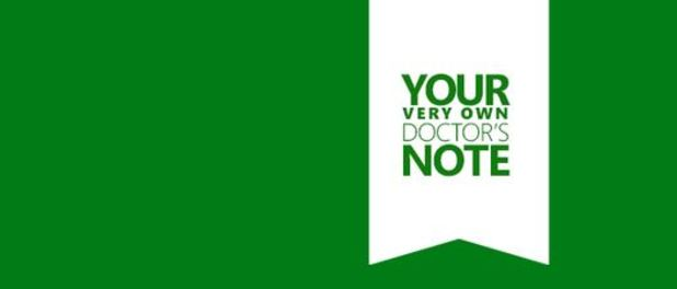 Xbox One doctor note