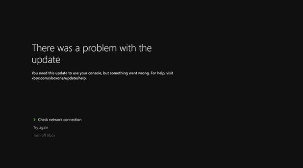 Xbox One There was a problem with the update