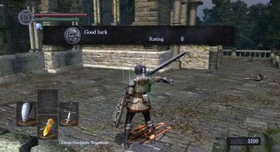 PlayStation 4 (console) Screenshot - Dark Souls player message
